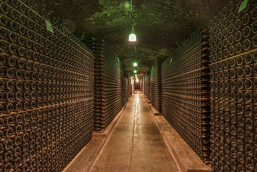 Wine Cellar, Cave, Bottles, Old, Winery